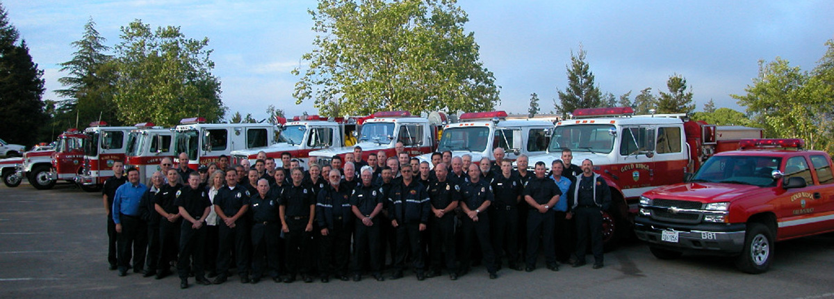Bennett Valley Fire Department Staff and Emergency Vehicles
